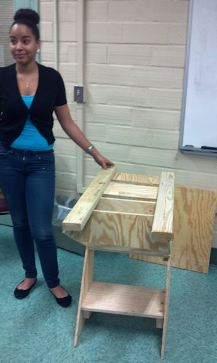 URI Honors class project - the transforming chair table.