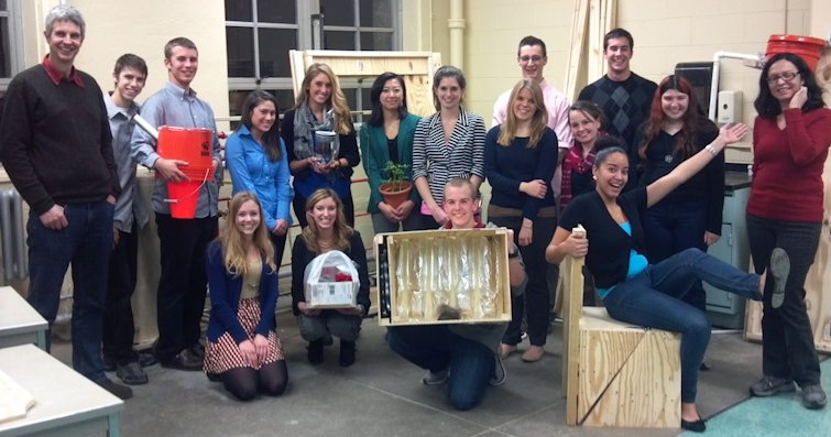 URI 2012 Honors Engineering class and their HOME Shelter projects.