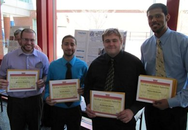"Bryce Monahan, Keldin Nunez, Justin Spiridone, and Alden Andrade receiving their ""Explemlary Engineering"" Awards"